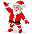 Cute santa cartoon waving vector