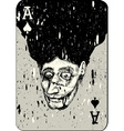 Playing cards all four aces two alternative ace of vector
