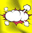 Big retro style comic book explosion cloud vector