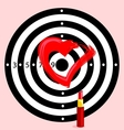 Target with heart vector