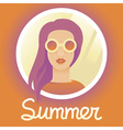 Summer girl vector