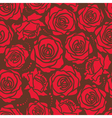 Seamless of a red roses on brown background vector