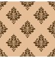 Vintage wallpaper design of floral arabesques vector