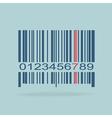 Barcode image on red background vector
