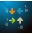 Steps for tutorial infographics vector