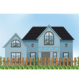 A single detached house vector