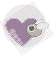 Bug with love heart vector