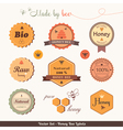 Honey bee labels vector
