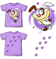Kid shirt with cute dog printed - isolated on vector