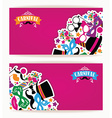 Celebration festive flyer with carnival icons and vector