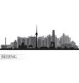 Beijing city silhouette vector