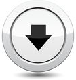 Button with download icon vector