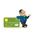 Business man with credit card vector
