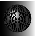 Shiny silver sphere with black pattern vector