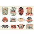 Original retro labels emblems collection vector
