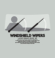 Windshield wipers cars parts vector