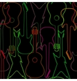 Seamless pattern with guitar silhouettes vector