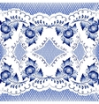 Seamless floral pattern in gzhel style vector