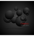 Black circles abstract background vector