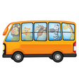 Animals and school bus vector