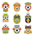 Set of sports soccer football badges vector