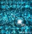 Abstract blue mosaic vector