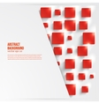 Square abstract background card red vector