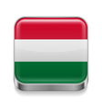 Metal icon of hungary vector