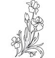Flower sketch set vector