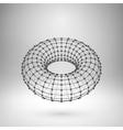 Wireframe mesh polygonal torus vector