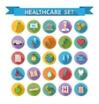 Health care doddle icons set in flat style with vector