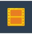 Flat golden film icon vector