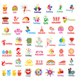 Biggest collection of logos and holiday vector