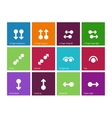 Collection of touch screen gesture icons on color vector