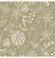 Seamless summer floral pattern vector