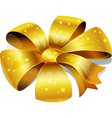 Golden bow isolated on white background vector