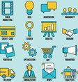 Set of internet services icons - part 1 vector
