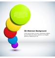 Colorful 3d circle background vector