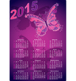 Dark violet pocket calendars for 2015 vector