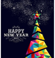 New year 2015 tree poster design vector