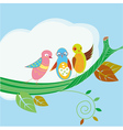 Three birds vector