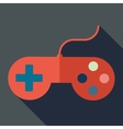 Modern flat design concept icon gamepad computer vector