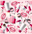 Cosmetics seamless vector