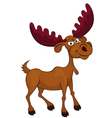 Angry deer cartoon vector