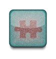 Game puzzle icon vector