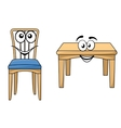 Cute cartoon wooden furniture vector