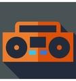 Modern flat design concept icon boom box tape vector