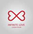 Infinite love logo vector
