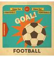 Football placard vector