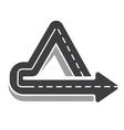 Looping triangular tarred highway vector